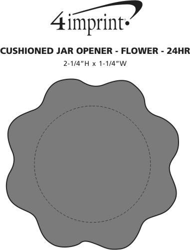 Imprint Area of Cushioned Jar Opener - Flower - 24 hr