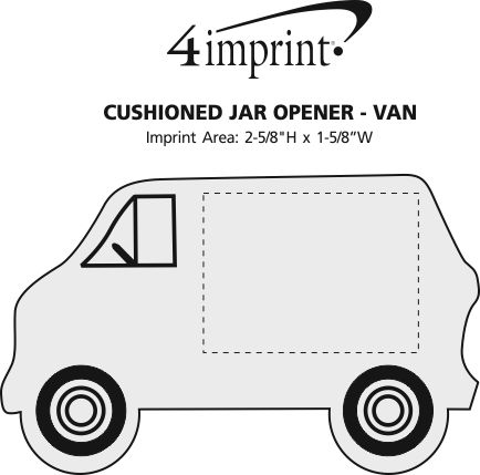 Imprint Area of Cushioned Jar Opener - Van