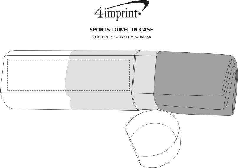 Imprint Area of Sports Towel in Case