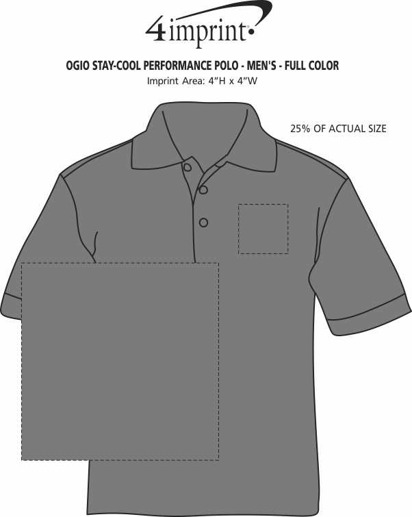 Imprint Area of OGIO Stay-Cool Performance Polo - Men's - Full Color