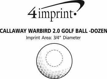 Imprint Area of Callaway Warbird 2.0 Golf Ball - Dozen