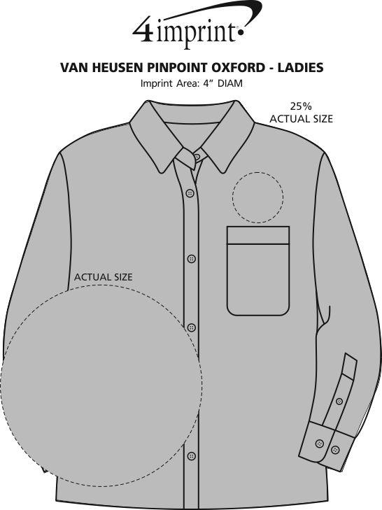 Imprint Area of Van Heusen Pinpoint Oxford - Ladies'