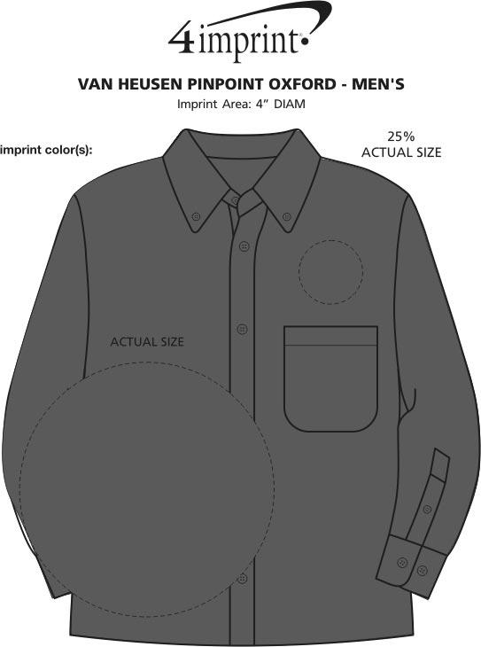 Imprint Area of Van Heusen Pinpoint Oxford - Men's
