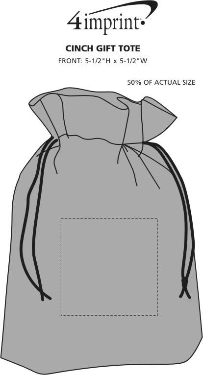Imprint Area of Cinch Gift Tote