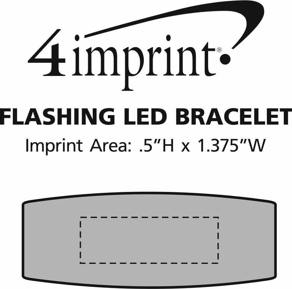 Imprint Area of Flashing LED Bracelet