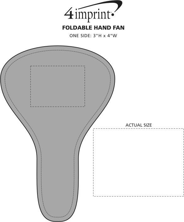 Imprint Area of Foldable Hand Fan