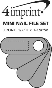 Imprint Area of Mini Nail File Set