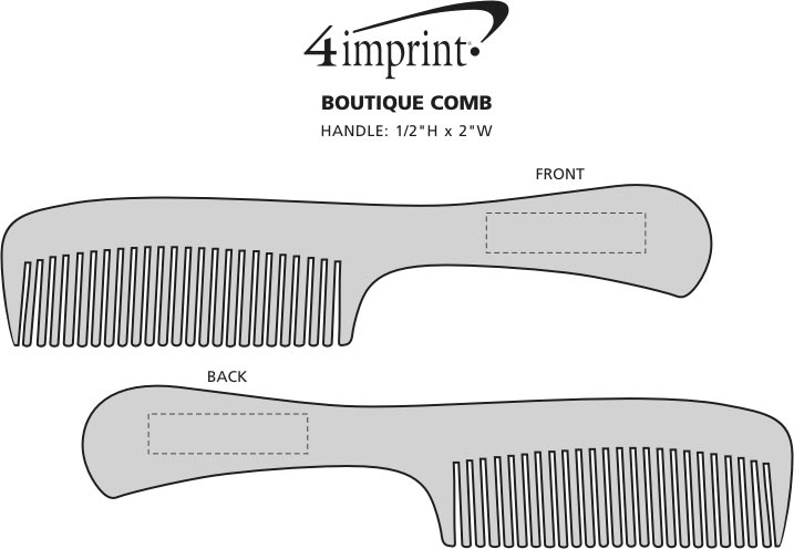 Imprint Area of Boutique Comb