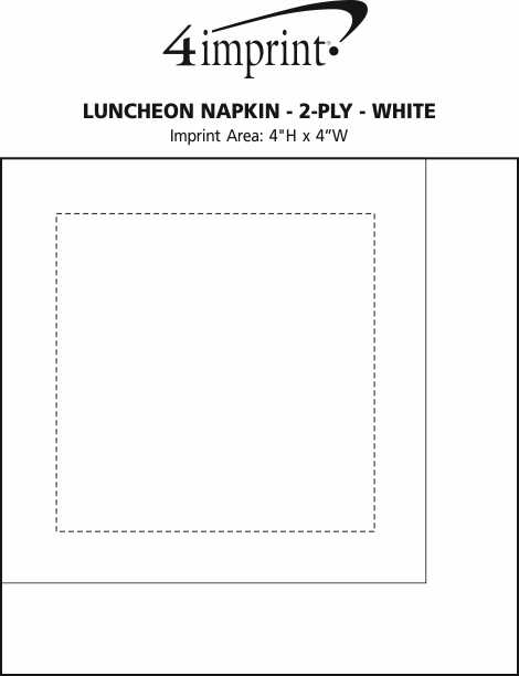 Imprint Area of Luncheon Napkin - 2-ply - White