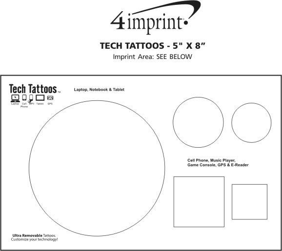 "Imprint Area of Tech Tattoos - 5"" x 8"""