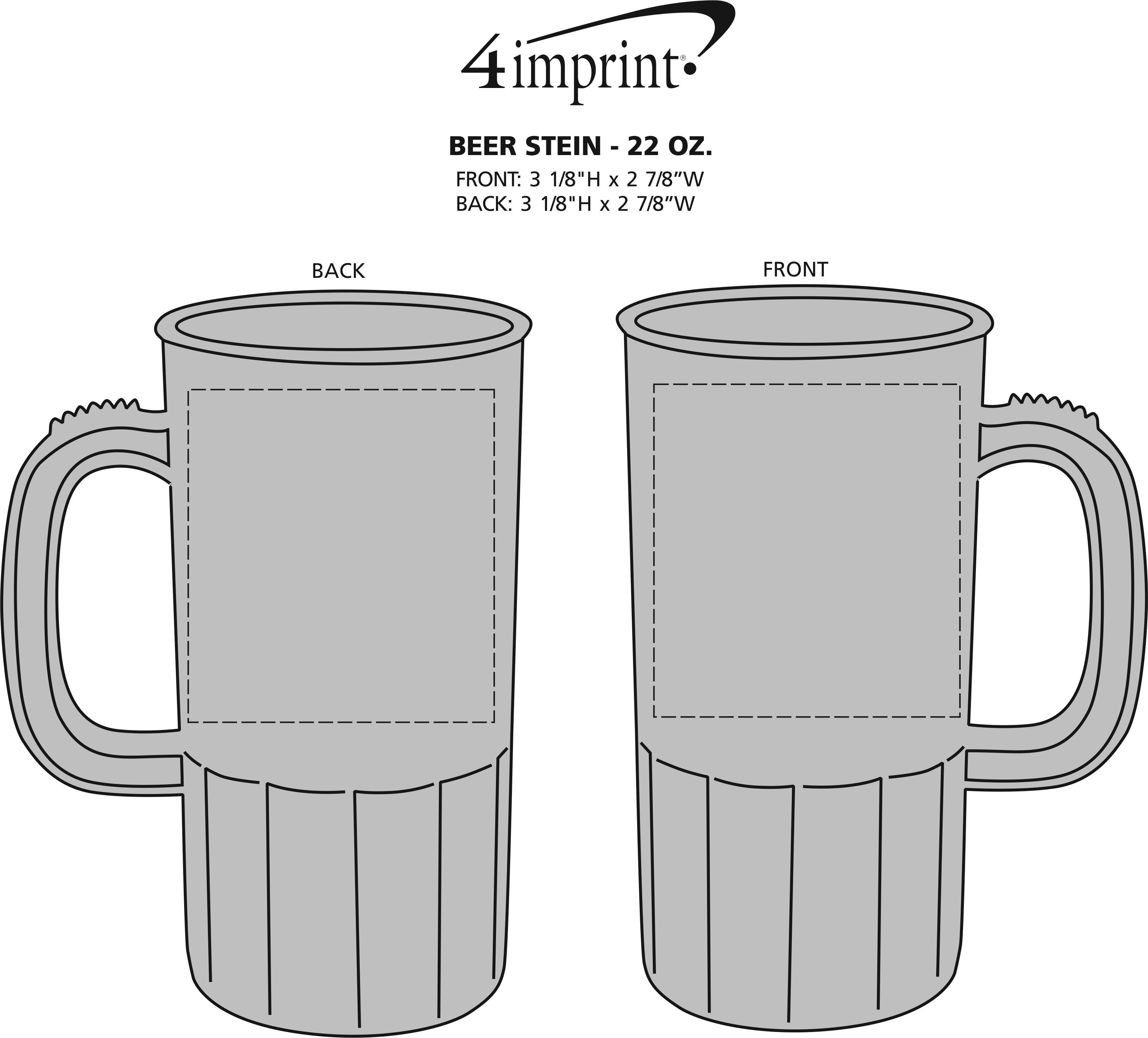 Imprint Area of Beer Stein - 22 oz.