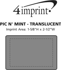 Imprint Area of Pic N' Mint - Translucent