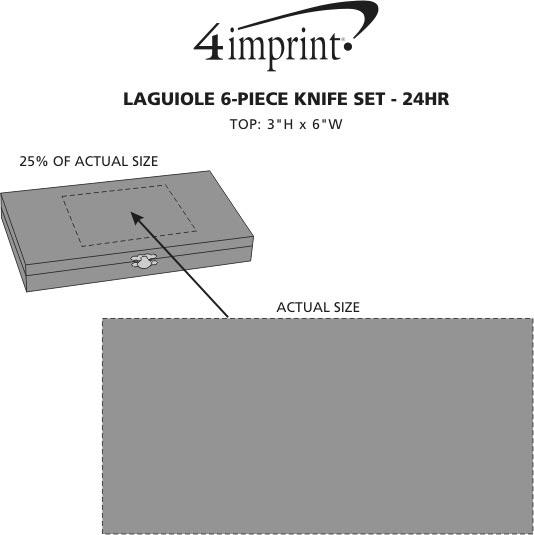 Imprint Area of Laguiole 6-Piece Knife Set - 24 hr