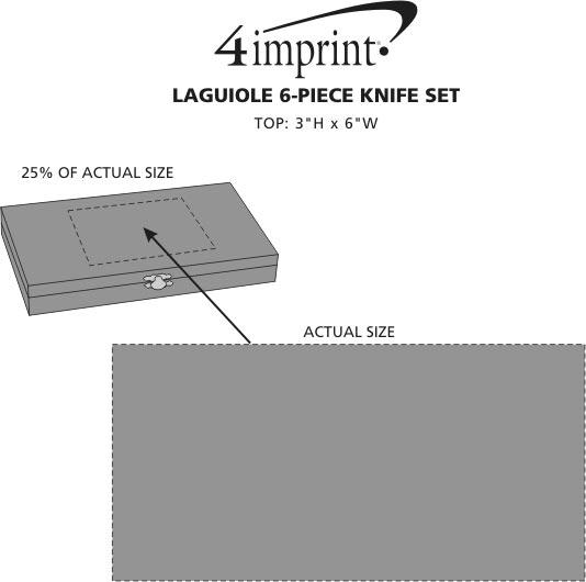 Imprint Area of Laguiole 6-Piece Knife Set