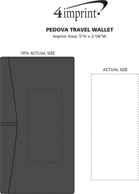 Imprint Area of Pedova Travel Wallet