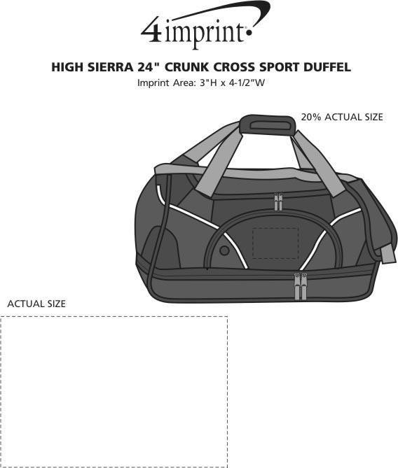 """Imprint Area of High Sierra 24"""" Crunk Cross Sport Duffel"""