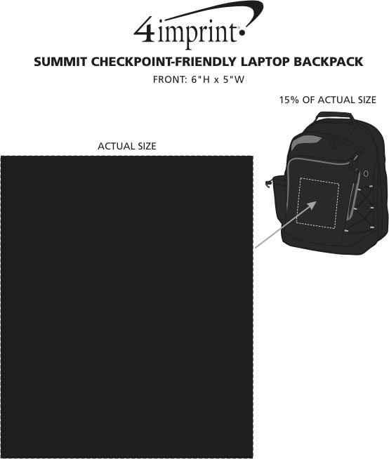 Imprint Area of Summit Checkpoint-Friendly Laptop Backpack