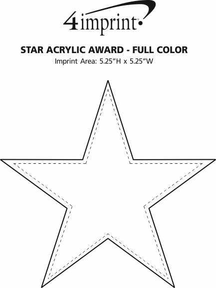 Imprint Area of Star Acrylic Award - Full Color
