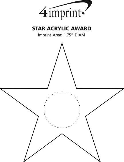 Imprint Area of Star Acrylic Award