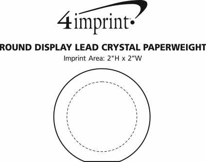 Imprint Area of Round Display Lead Crystal Paperweight