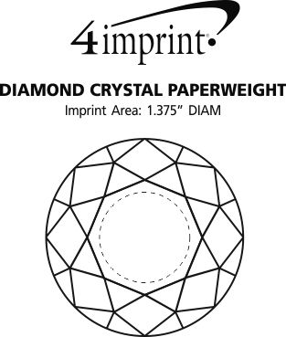 Imprint Area of Diamond Crystal Paperweight