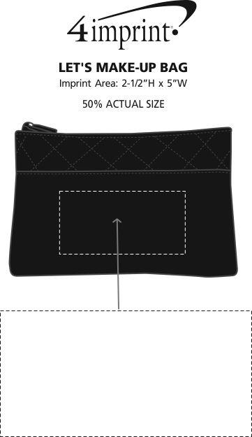 Imprint Area of Let's Make-Up Bag