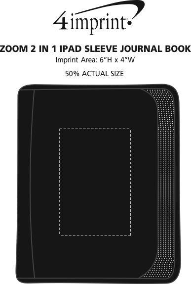 Imprint Area of Zoom 2-in-1 iPad Sleeve Journal Book