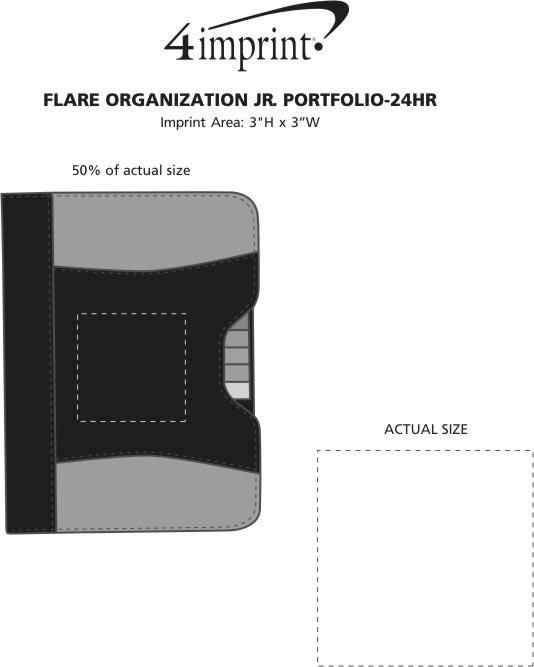 Imprint Area of Flare Organization Jr. Portfolio - 24 hr