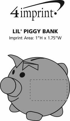 Imprint Area of Lil' Piggy Bank