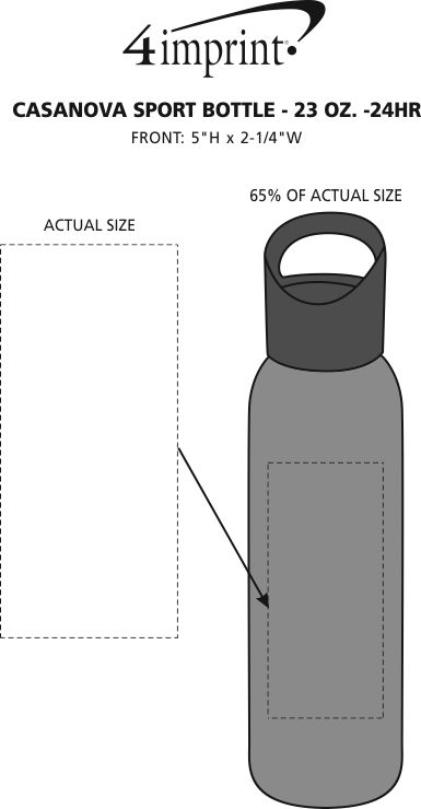 Imprint Area of Casanova Sport Bottle - 23 oz. - 24 hr