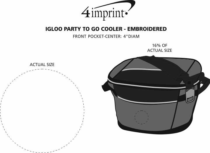 Imprint Area of Igloo Party To Go Cooler