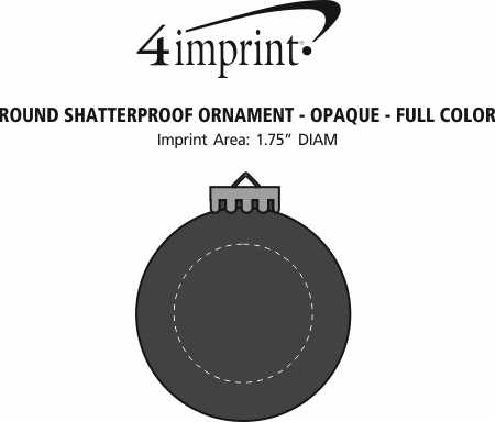 Imprint Area of Round Shatterproof Ornament - Opaque - Full Color