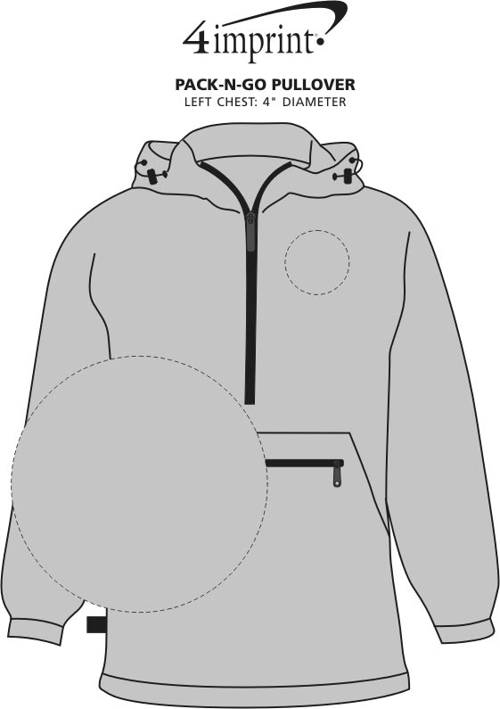 Imprint Area of Pack-N-Go Pullover