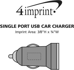 Imprint Area of Single Port USB Car Charger