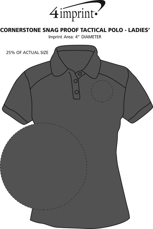Imprint Area of Cornerstone Snag Proof Tactical Polo - Ladies'
