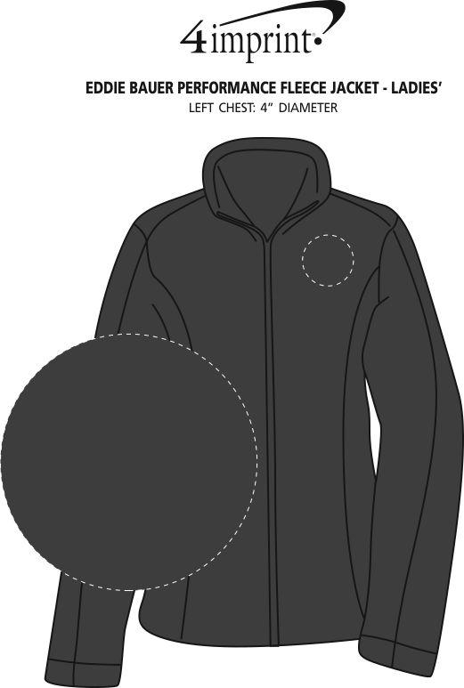 Imprint Area of Eddie Bauer Performance Fleece Jacket - Ladies'