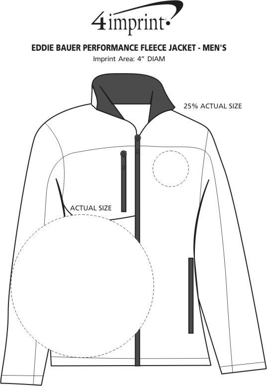 Imprint Area of Eddie Bauer Performance Fleece Jacket - Men's