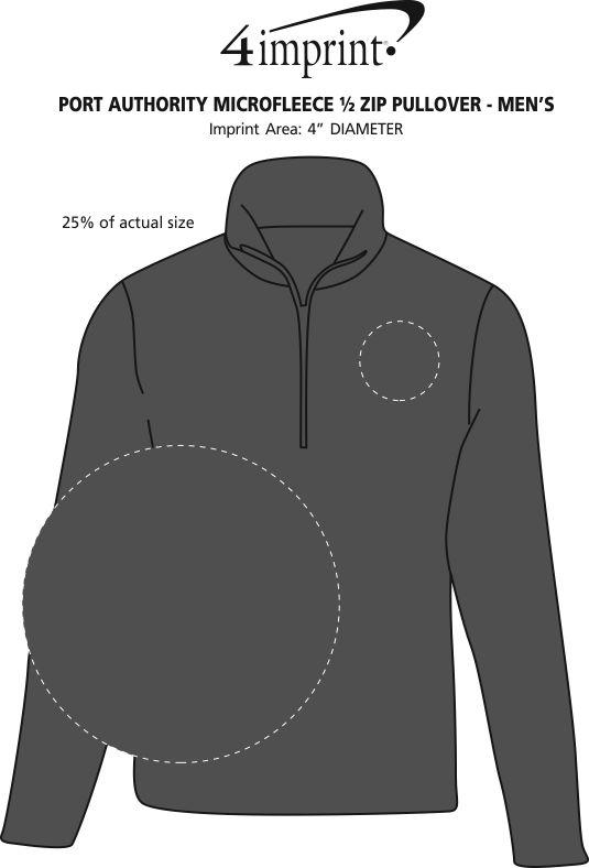 Imprint Area of Microfleece 1/2-Zip Pullover - Men's