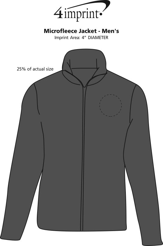 Imprint Area of Crossland Microfleece Jacket - Men's