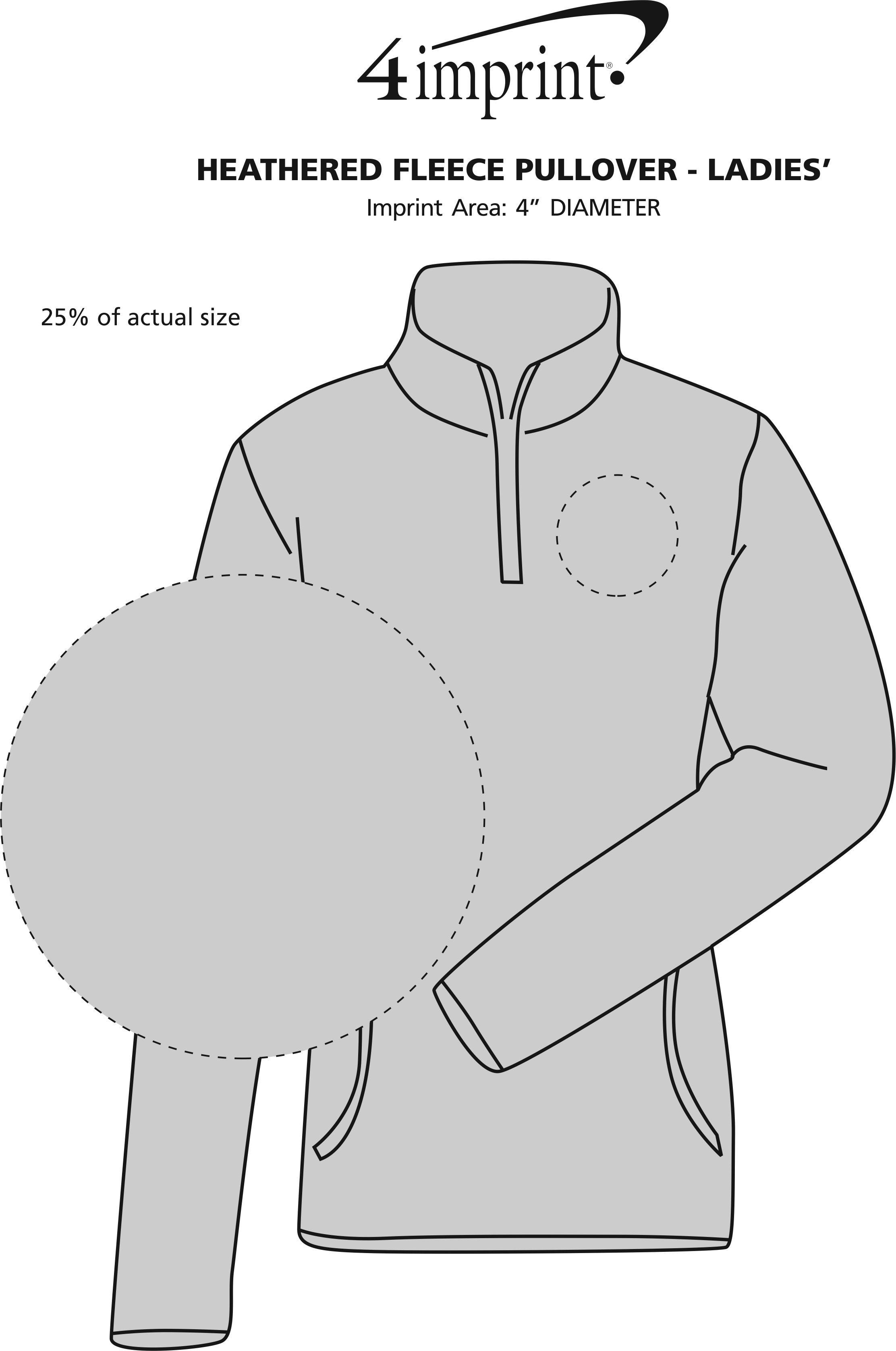 Imprint Area of Heathered Fleece Pullover - Ladies'