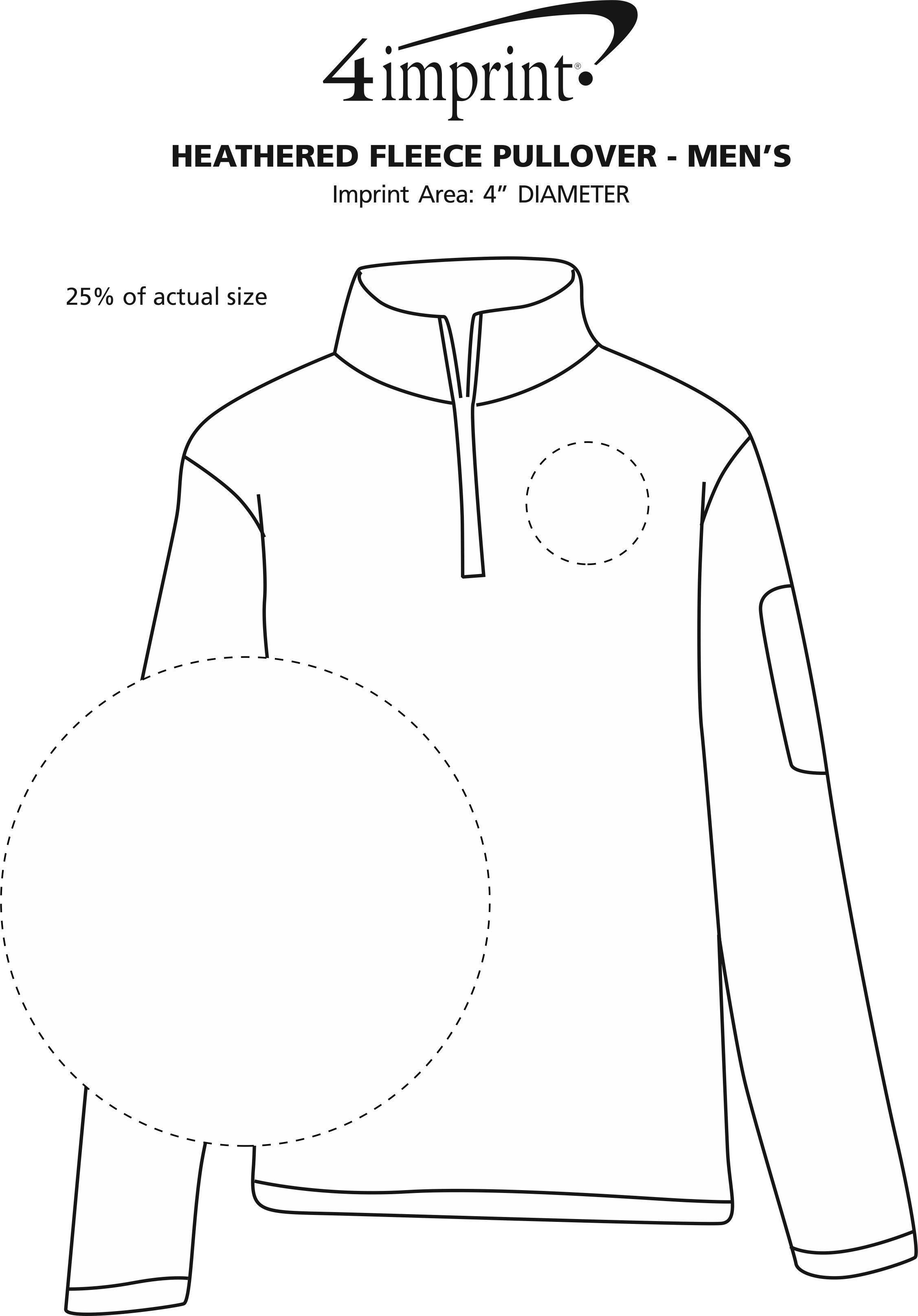 Imprint Area of Heathered Fleece Pullover - Men's