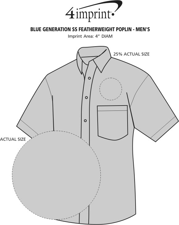 Imprint Area of Blue Generation SS Featherweight Poplin - Men's