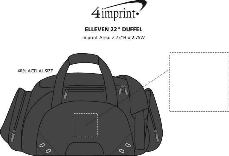 "Imprint Area of elleven 22"" Duffel"