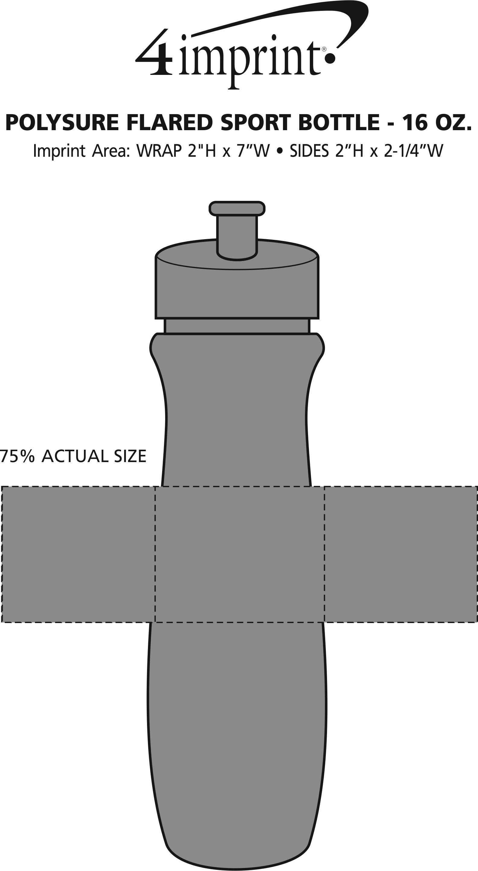 Imprint Area of Refresh Flared Water Bottle - 16 oz.