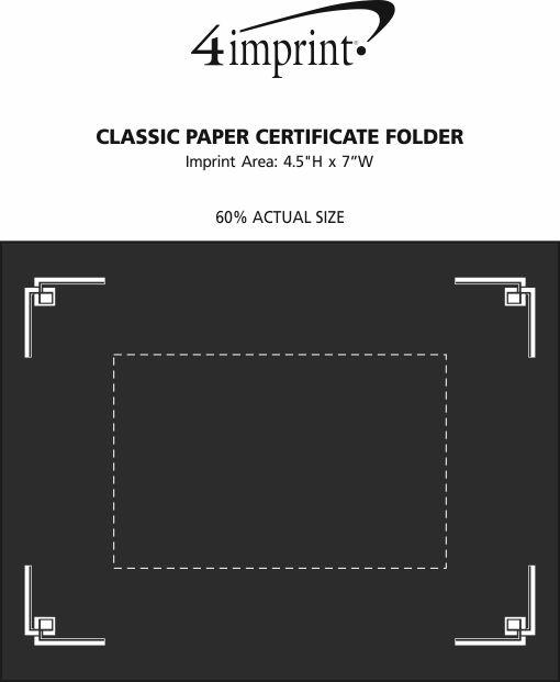 Imprint Area of Classic Paper Certificate Folder
