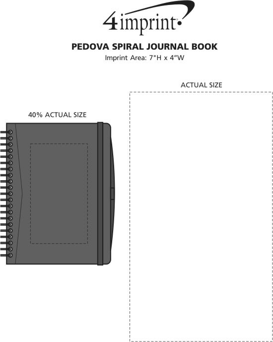 Imprint Area of Pedova Spiral Journal Book