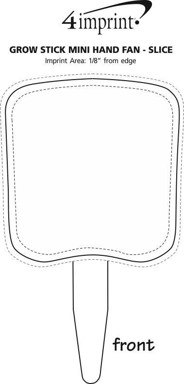 Imprint Area of Grow Stick Mini Hand Fan - Slice