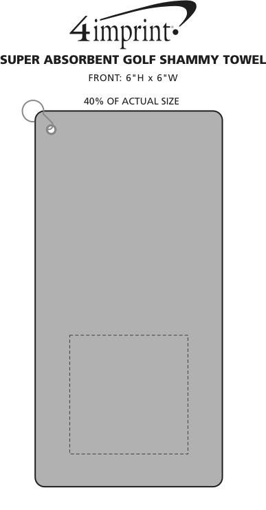 Imprint Area of Super Absorbent Golf Shammy Towel