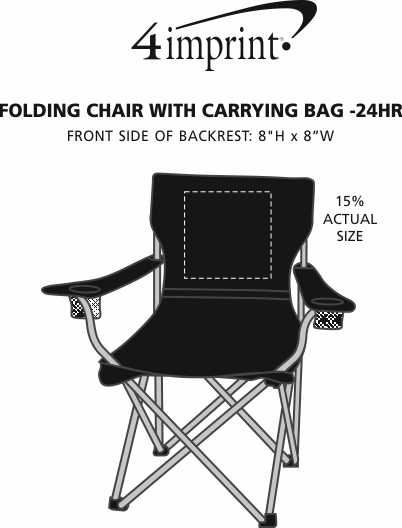 Imprint Area of Game Day Event Chair