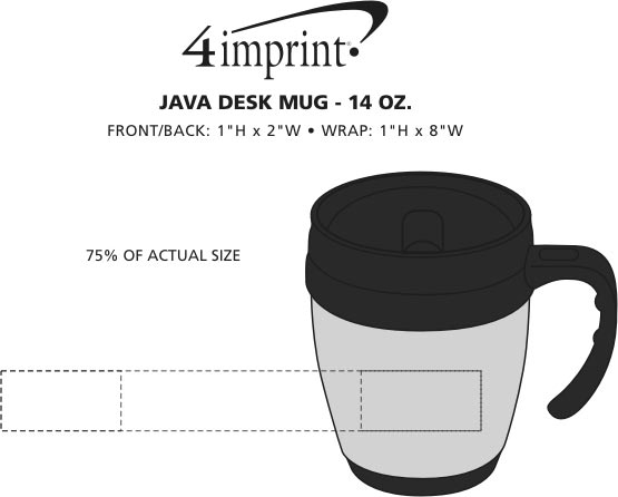 Imprint Area of Java Desk Mug - 14 oz.